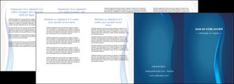 modele depliant 4 volets  8 pages  web design bleu couleurs froides fond bleu MIF81621