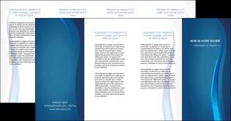 creation graphique en ligne depliant 4 volets  8 pages  web design bleu couleurs froides fond bleu MIF81625