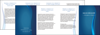 faire depliant 4 volets  8 pages  web design bleu couleurs froides fond bleu MIF81627