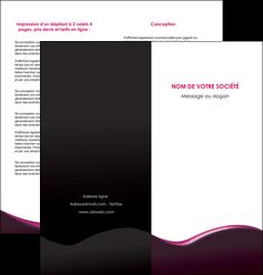 maquette en ligne a personnaliser depliant 2 volets  4 pages  web design violet noir fond noir MLIG81949