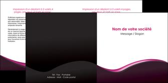impression depliant 2 volets  4 pages  web design violet noir fond noir MLIG81951