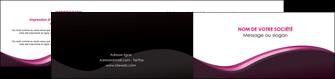 creation graphique en ligne depliant 2 volets  4 pages  web design violet noir fond noir MLIG81957