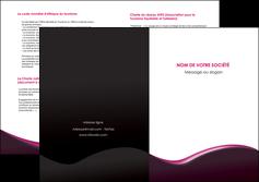 modele depliant 2 volets  4 pages  web design violet noir fond noir MLGI81961