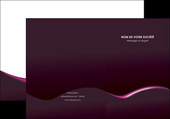 realiser pochette a rabat web design violet noir fond noir MLGI81967