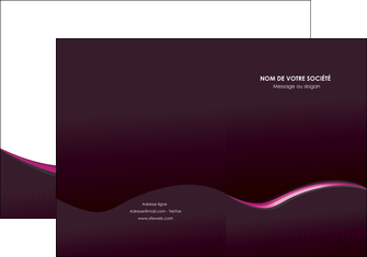 maquette en ligne a personnaliser pochette a rabat web design violet noir fond noir MLGI81969