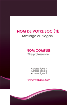 personnaliser modele de carte de visite web design violet noir fond noir MLIG81971