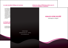 faire modele a imprimer depliant 2 volets  4 pages  web design violet noir fond noir MLIG81975