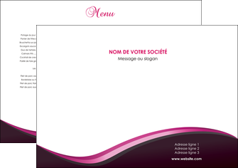 imprimerie set de table web design violet noir fond noir MLIG81981