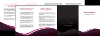 modele depliant 4 volets  8 pages  web design violet noir fond noir MLGI81985