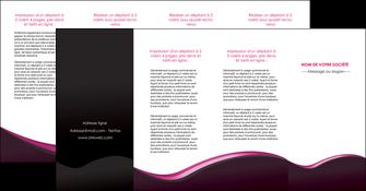 realiser depliant 4 volets  8 pages  web design violet noir fond noir MLIG81989