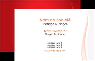 exemple carte de visite web design rouge couleur colore MIF82291