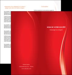 imprimer depliant 2 volets  4 pages  web design rouge couleur colore MIF82301