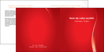 exemple depliant 2 volets  4 pages  web design rouge couleur colore MIF82303
