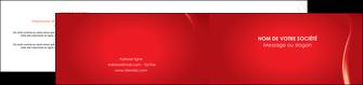 impression depliant 2 volets  4 pages  web design rouge couleur colore MIF82309
