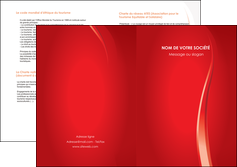 personnaliser maquette depliant 2 volets  4 pages  web design rouge couleur colore MIF82313