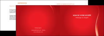 impression depliant 2 volets  4 pages  web design rouge couleur colore MIF82317
