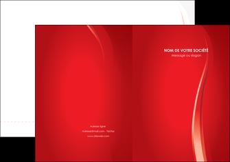 imprimerie pochette a rabat web design rouge couleur colore MLIG82319