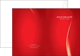 modele pochette a rabat web design rouge couleur colore MLIG82321