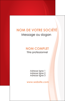 faire modele a imprimer carte de visite web design rouge couleur colore MLIGBE82323
