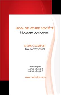 faire modele a imprimer carte de visite web design rouge couleur colore MIF82323