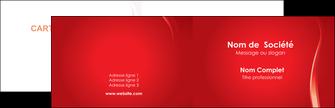 faire carte de visite web design rouge couleur colore MIF82325