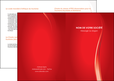 modele en ligne depliant 2 volets  4 pages  web design rouge couleur colore MLIGBE82327