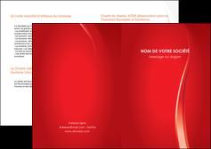 modele en ligne depliant 2 volets  4 pages  web design rouge couleur colore MIF82327