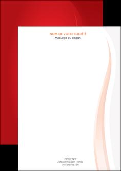 personnaliser maquette affiche web design rouge couleur colore MIF82329
