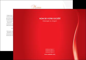 imprimerie set de table web design rouge couleur colore MIF82333