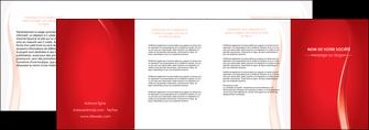 faire modele a imprimer depliant 4 volets  8 pages  web design rouge couleur colore MIF82335