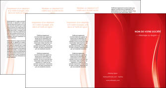 impression depliant 4 volets  8 pages  web design rouge couleur colore MLIGBE82339