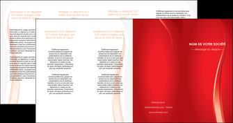 impression depliant 4 volets  8 pages  web design rouge couleur colore MIF82339