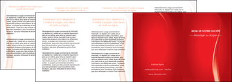 imprimerie depliant 4 volets  8 pages  web design rouge couleur colore MLIGBE82341