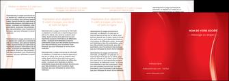 imprimerie depliant 4 volets  8 pages  web design rouge couleur colore MIF82341