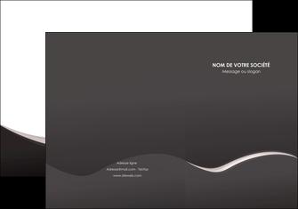 impression pochette a rabat web design gris rose fond gris MLGI83719