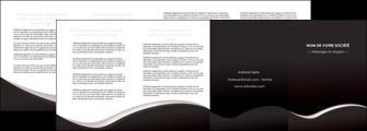 exemple depliant 4 volets  8 pages  web design gris rose fond gris MLGI83737