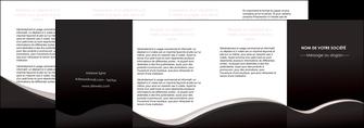 imprimerie depliant 4 volets  8 pages  web design gris rose fond gris MLGI83743