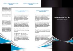 faire modele a imprimer depliant 3 volets  6 pages  web design abstrait arriere plan bande MIF84379