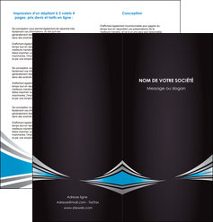 realiser depliant 2 volets  4 pages  web design abstrait arriere plan bande MIF84381