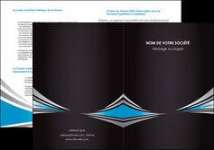 modele depliant 2 volets  4 pages  web design abstrait arriere plan bande MIF84393