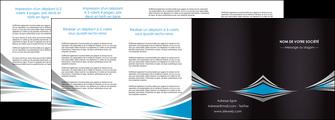realiser depliant 4 volets  8 pages  web design abstrait arriere plan bande MIF84415
