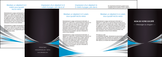 personnaliser maquette depliant 4 volets  8 pages  web design abstrait arriere plan bande MIF84421