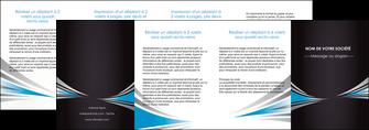 personnaliser maquette depliant 4 volets  8 pages  web design abstrait arriere plan bande MLIG84421