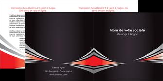 faire depliant 2 volets  4 pages  web design texture contexture structure MIF86513