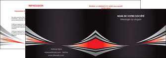 impression depliant 2 volets  4 pages  web design texture contexture structure MLIG86527