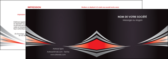 realiser depliant 2 volets  4 pages  web design texture contexture structure MIF86529