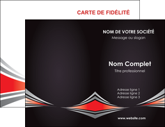 Commander Carte pelliculage SoftTouch Web Design Carte commerciale de fidélité modèle graphique pour devis d'imprimeur Carte de visite Double - Portrait