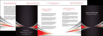 modele depliant 4 volets  8 pages  web design texture contexture structure MIF86545