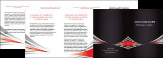 faire modele a imprimer depliant 4 volets  8 pages  web design texture contexture structure MIF86551