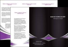 faire depliant 3 volets  6 pages  web design texture contexture structure MIF86561